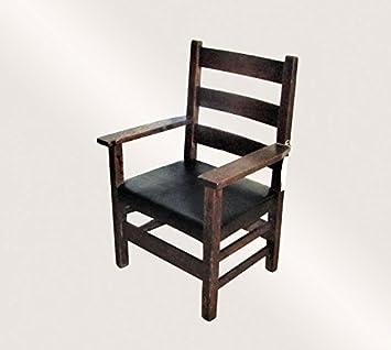Amazon.com: Antiguo Gustav Stickley silla brazo del niño ...