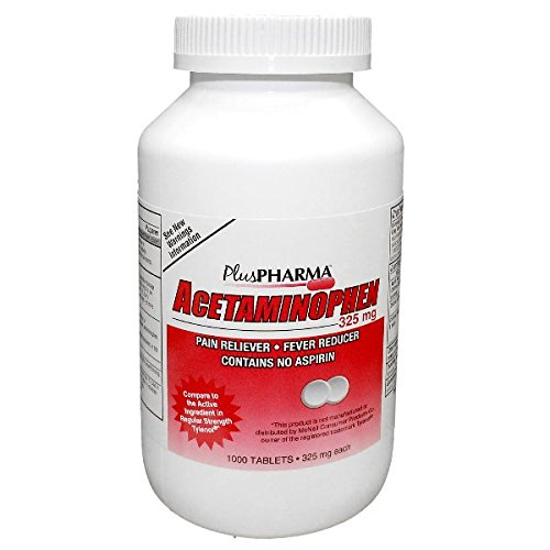 PlusPharma Acetaminophen 325mg 1000 TABLETS by PlusPharma