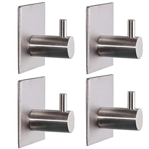 FEENM 4PCS Wall Hooks for Hanging 3M Adhesive Command Hooks