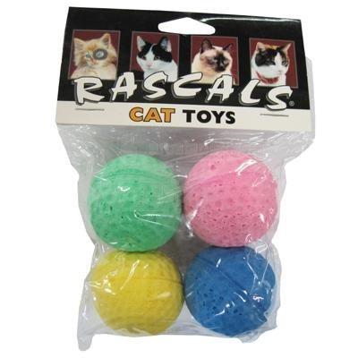 Coastal Pet Products 763919 80045R Sponge Balls 4Pk Cat (...