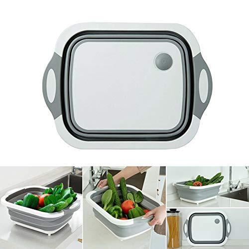 Fishyu 4 en 1 Multi-Board Dayvion No More Tools Panier à égoutter Pliable pour Les légumes de la Cuisine