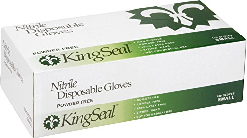 KingSeal Nitrile Disposable Gloves, Powder-Free, Blue, 4 mil, Extra Large - 4 boxes of 100 gloves by KingSeal (Image #2)