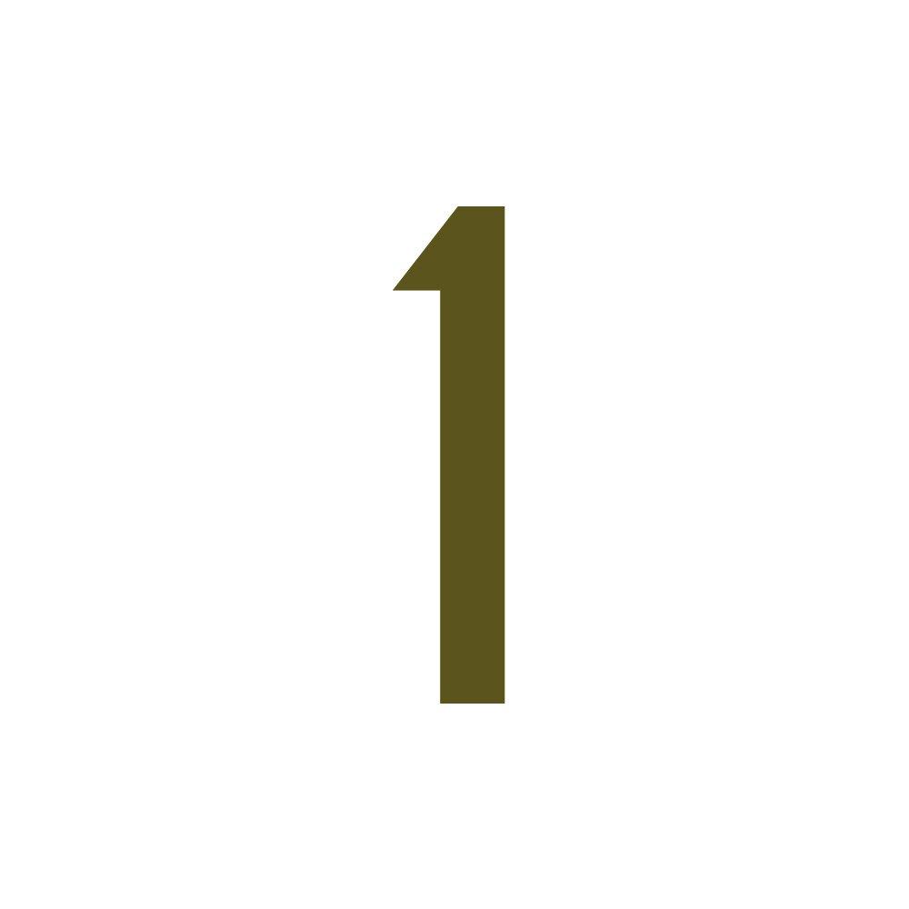 20mm H/öhen hoch 2cm Zahlenaufkleber Nummer 1 gold wetterfest Aufkleber mit Zahlen in vielen Farben