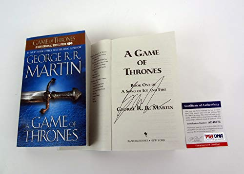 George RR Martin A Game of Thrones Signed Autograph Book PSA/DNA COA