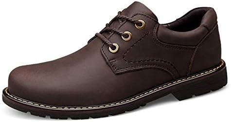 古典的なメンズファッションオックスフォードカジュアル快適でシンプルな汎用ラウンドトゥアウトソール作業靴 快適な男性のために設計