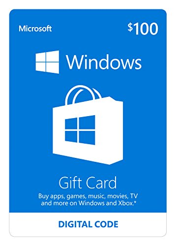 Microsoft Windows Store Gift Card – $100 Value [Online Code]