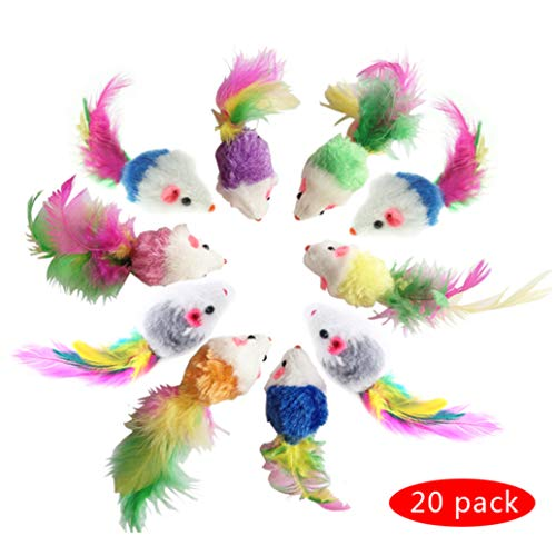 Deer Furry Pet Cat Toys Mice, Cat Toy Mouse, Pet Toys for Cats, Cat Catcher for Feather Tails, 10 Counting and 20…