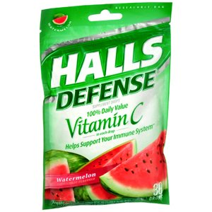 HALLS DEFENSE DROP WATERMELON Pack of 30 by DOT ***