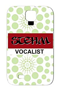 STEHM Vocalist TPU Tearproof Protective Case For Sumsang Galaxy S4 Rock Metal Rock Music Music Bands Red