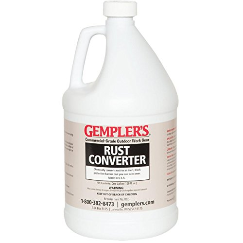 - GEMPLER'S Eco-Friendly Rust Converter and Primer All-in-One – Ultimate One-Step Solution to Convert Rusted Iron and Steel Surfaces and Prevent Further Rusting - 1 Gallon Size