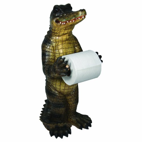 River's Edge Alligator Standing Toilet Paper Holder, Green