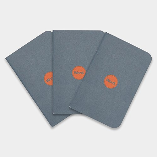 Word Notebooks Denim 3 Pack Pocket product image