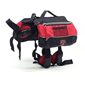Outward Hound Kyjen  Quick Release Dog BackPack, Small, Red