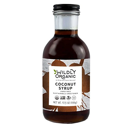 Organic Coconut Syrup, Unrefined, Sustainable Sweetener, Non-GMO, Kosher, Vegan, Buttery Caramel Flavor, Glass Bottle, Wildly Organic - 17.5 OZ