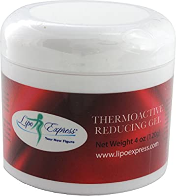 Lipo Express Cellulite Cream 4 Oz - Best Anti-cellulite Hot Gel-cream, Slimming and Body Firming Gel with Thermogenic Action - Also Great for Muscle Relaxation and Massage