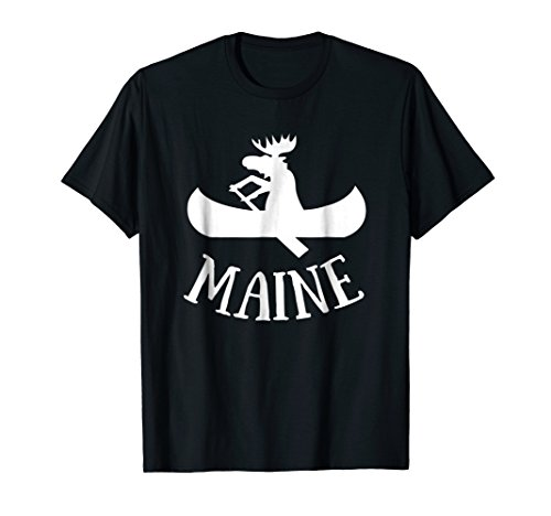 Maine t-shirt | Moose Canoe Vacation t