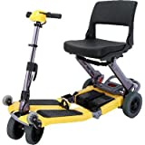 FreeRider USA FR168-4IT Elite Luggie with Charger and Armrest Set, Yellow