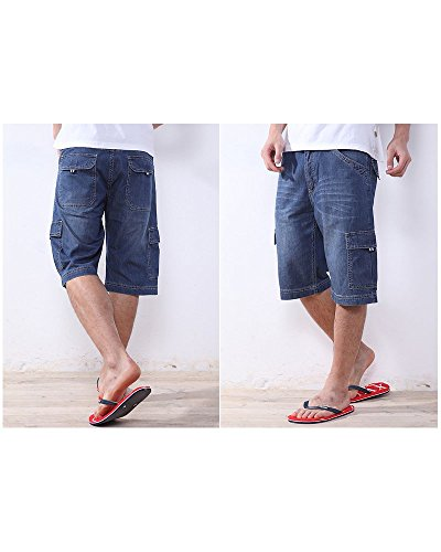OCHENTA -  Pantaloncini  - Basic - Uomo Blu blu