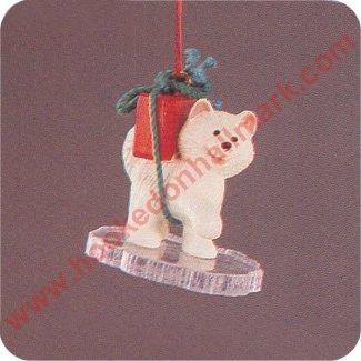Little Husky 1990 Hallmark Miniature Ornament XPR9722