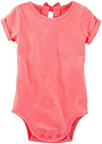 OshKosh B'Gosh Baby Girls' Knit Bodysuit 11057115, Orange, 6 Months