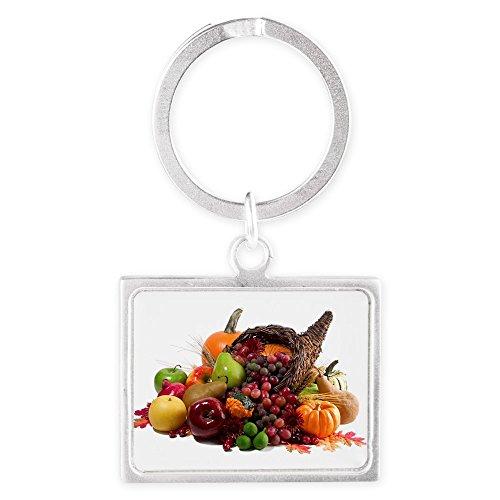 Landscape Keychain Thanksgiving Turkey Cornucopia (Thanksgiving Basket Landscapes)