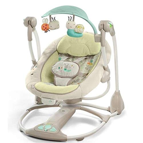 Infant Bouncers & Rockers Baby Rocking Chair Electric Cradle Baby Sleeping Basket Baby Swing Chair with Music and Vibration,brightyellow