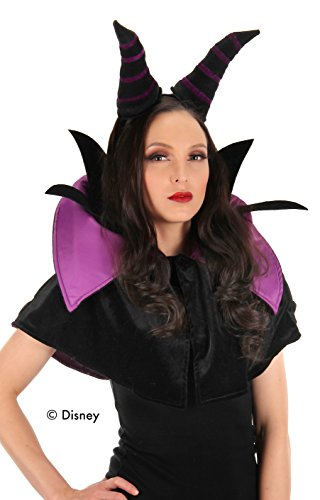elope Disney Maleficent Womens Costume Headband and Collar Set]()