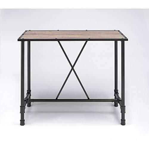 HomeRoots Furniture Bar Table - Oak & Black (285738)