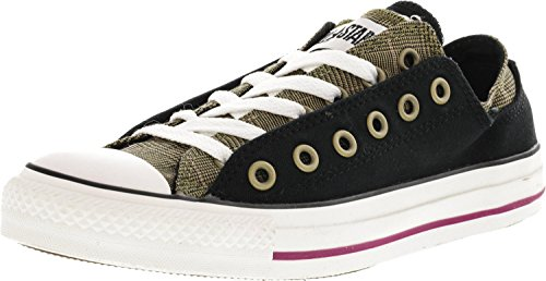Converse Chuck Taylor Double Upper Galle Black Ankle-High Fashion Sneaker - 8M/6M