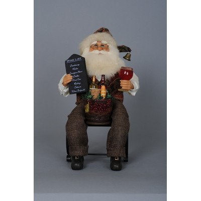 Santa Wine Bottle Holder - Crakewood Santa Claus Tabletop Wine Rack