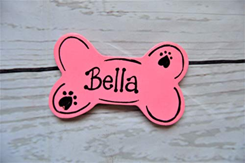 Wood Dog Bone Personalized Refrigerator Magnet or Ornament