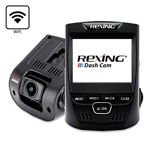 Rexing V1 Wi-Fi Car Dash Cam 2.4$0027 LCD FHD 1080p 170° Wide Angle Dashboard Camera Recorder with G-Sensor, WDR, Loop Recording, Supercapacitor, Mobile App