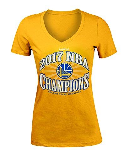 5th & Ocean NBA Golden State Warriors Women's Baby Jersey Short Sleeve V Neck T-Shirt, Gold, X-Large ()