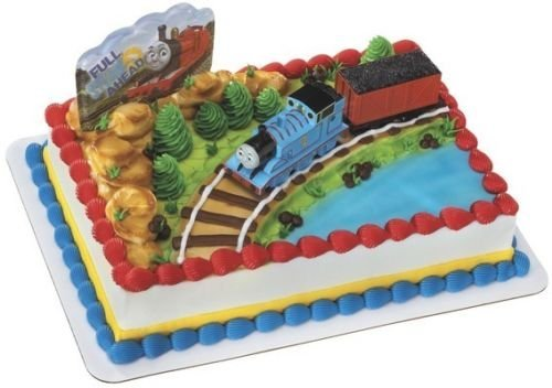 CakeDrake THOMAS the Tank TRAIN Coal Car Birthday Cake Decoration Party Topper Set Kit (Cake Decorations Thomas Train)