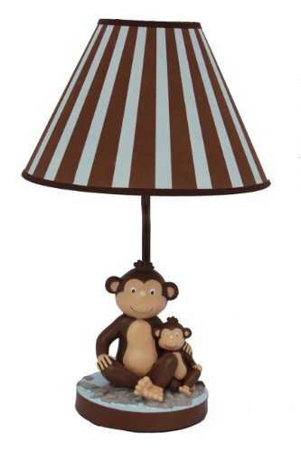 Adorable Monkey and Child Table Lamp and Nightlight for Kids (Monkey Bedside Lamp)