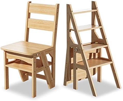 Sillas de Madera de la Escalera de Tijera Escaleras Plegables Taburete de escaleras, Multifunción Escalera de Madera Resistente Estante o Subir escaleras de Mano, de Servicio Pesado: Amazon.es: Hogar