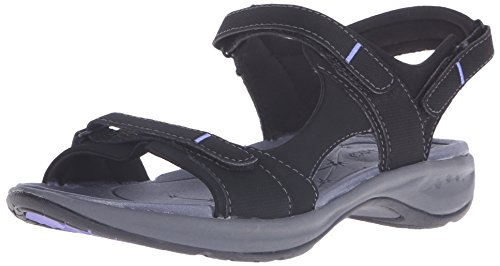 Easy Spirit Women's EGNITA Flat Sandal, Black, 6.5 M US