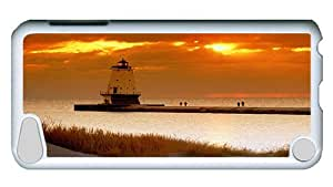 Rugged iPod Touch 5 Case, Ludington-north Custom Design PC Hard Case for iPod Touch 5 White