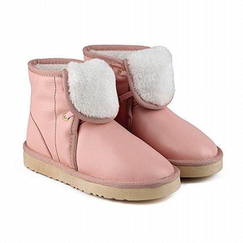 Mee Shoes Damen runde kurzschaft mit Schnürsenkel Stiefel Pnk