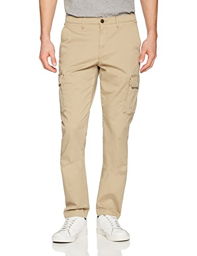 Goodthreads Men's Slim-Fit Vintage Cargo Pant, New British Khaki, 34W x 32L ()