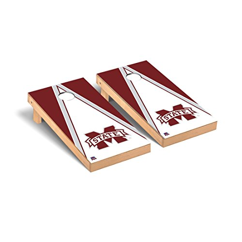 Mississippi State MSU Bulldogs Regulation Cornhole Game Set Triangle Version 2 by Victory Tailgate