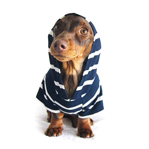DJANGO Dog Hoodie and Super Soft and Stretchy Sweater with Elastic Waistband and Leash Portal (X-Small, - Dog Hoodie Soft