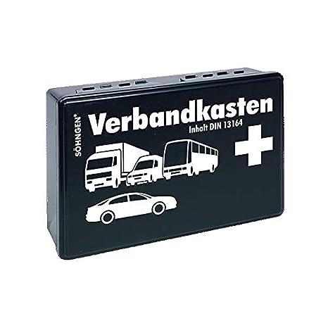 Söhngen Kfz Verbandskasten Mit Füllung Schwarz Koffer Aus Abs Kunststoff 260x160x80 Mm 3004002 Gewerbe Industrie Wissenschaft