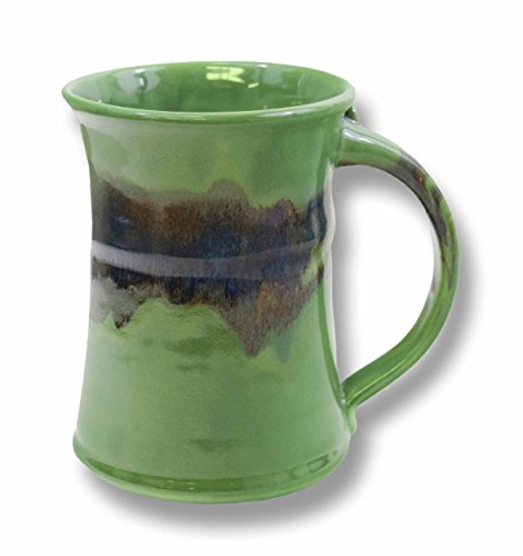 Clay in Motion Handmade Ceramic Large Mug 20oz - Misty Green ()