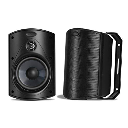 Polk Audio Atrium 5 Outdoor Speakers with Powerful Bass (Pair
