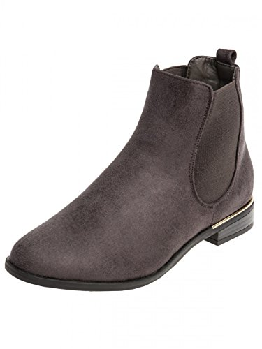 Boots CASPAR Grey Chelsea Vintage Women SBO054 Dark wnfqRIg