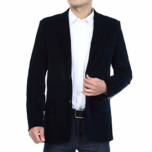 Men's Blazer Jacket Corduroy Sport Coat Smart Formal Dinner Cotton Jacket Slim Fit Two Button Notch Lapel Coat