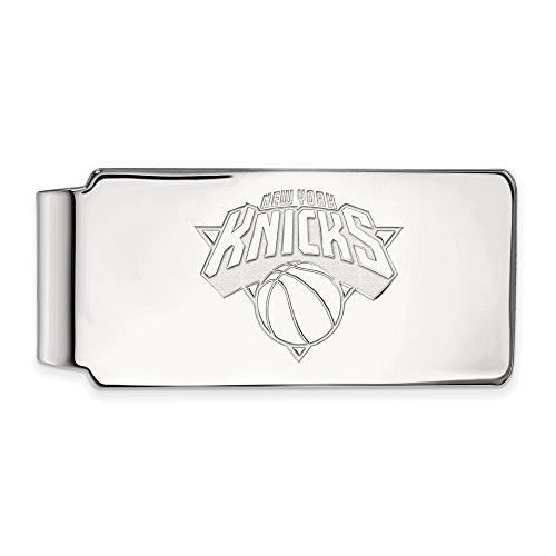 NBA New York Knicks Money Clip in 14K White Gold by LogoArt