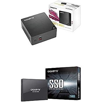 GIGABYTE GB-BRI7H-8550 (Ultra Compact Mini PC/Intel UHD Graphics 620/M.2 SSD port/HDMI with 256GB 64 layer 3D TLC NAND Flash SATA III 2.5