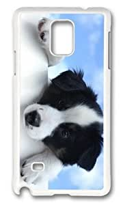 Adorable black white dog Hard Case Protective Shell Cell Phone Iphone 5/5S - PC White